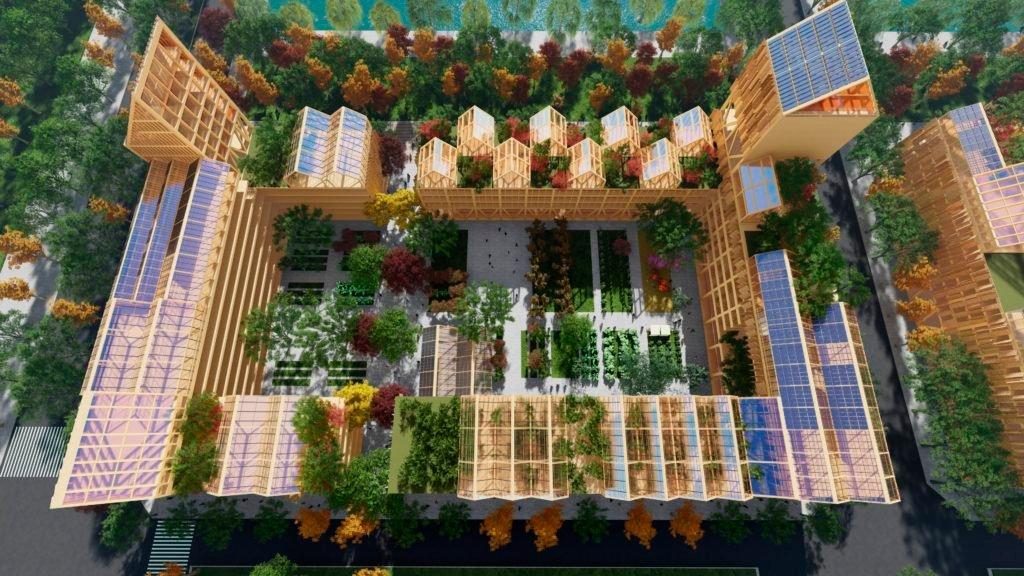 Render de la ciudad post covid propuesta por el arquitecto Vicente Guallart./Guallart Architects